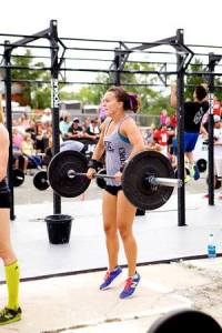 During the Hotshots 19 CrossFit Memorial WOD, baby on board
