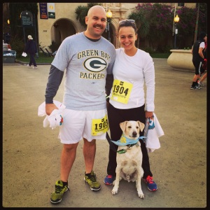 Team Leatherman prior to Fr. Joe's Turkey Trot in Balboa Park