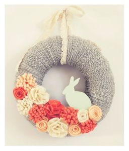 Spring rabbit wreath ... without Pinterest instruction