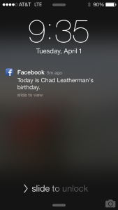 Thanks for the reminder, Facebook.