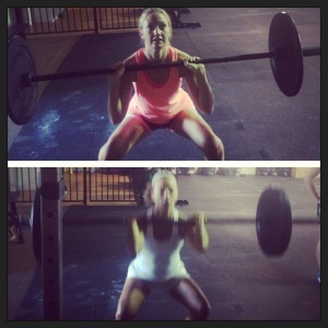 Wedding week front squat with Kel