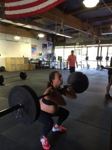 37 week front squat - 135#