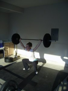 Colleen in her early CrossFit days