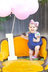 Sweet girl is ONE! Photo cred: RoundLens Photography